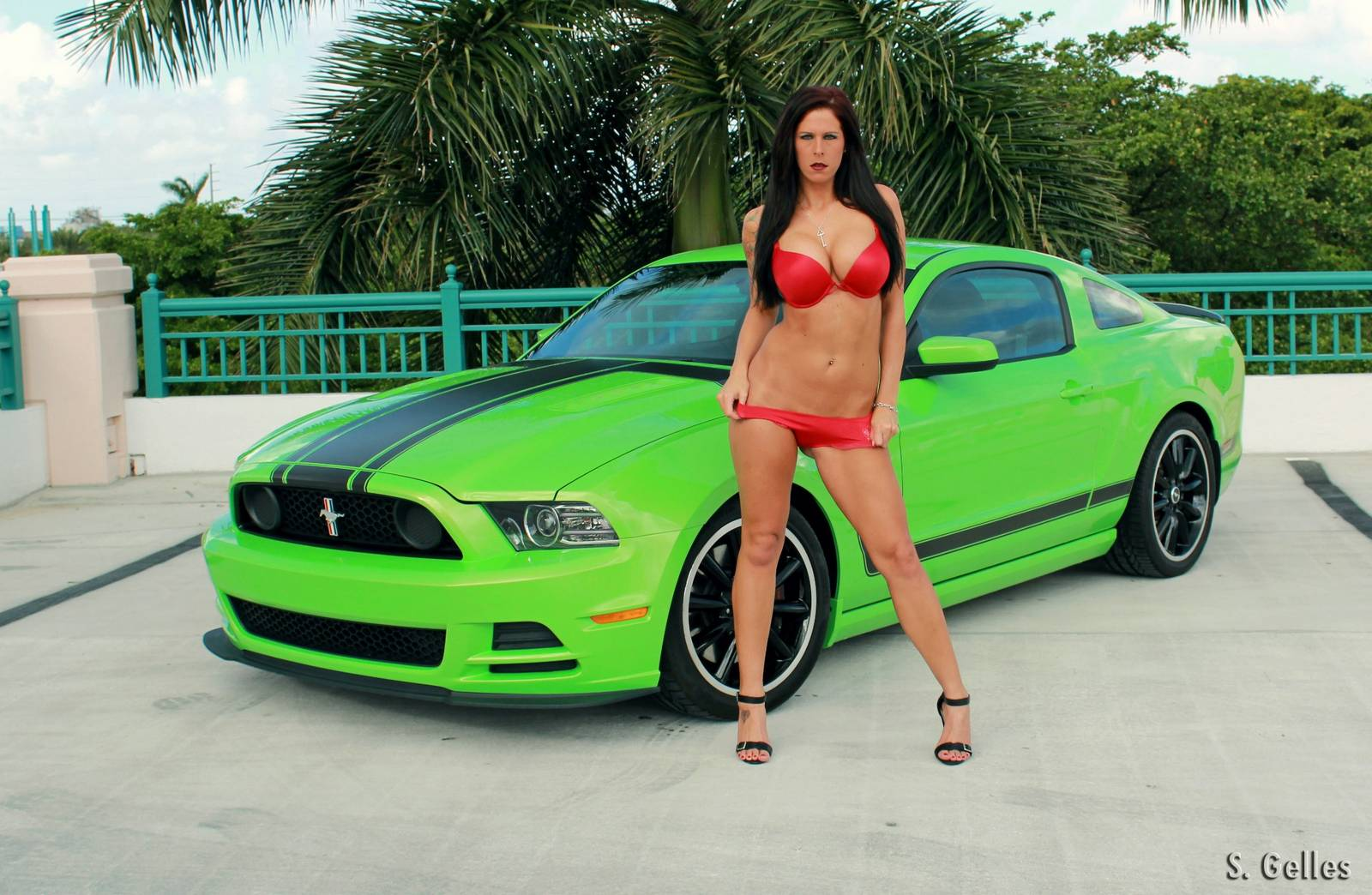 Krista Elyse A Model and Mustang Drag Racer